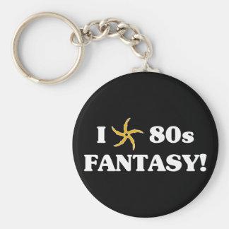 I Love 80s Fantasy Basic Round Button Keychain