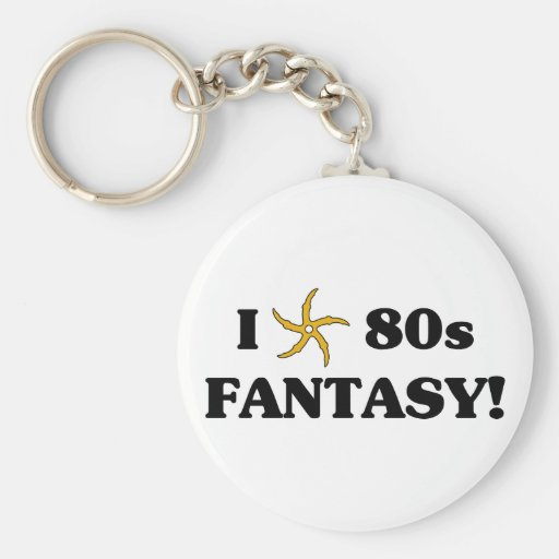 I Love 80s Fantasy Keychain