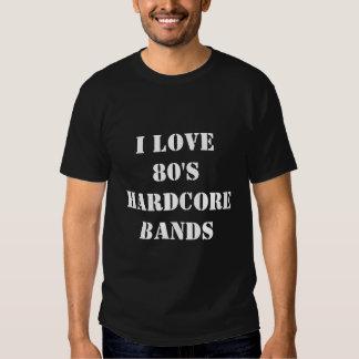 I Love 80's Hardcore Bands Tshirts