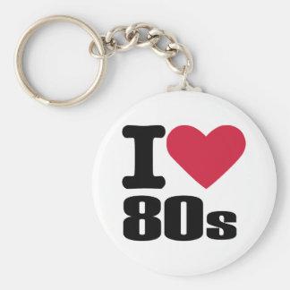 I love 80's key chain