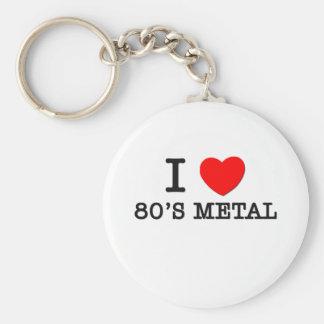 I Love 80's Metal Key Chains