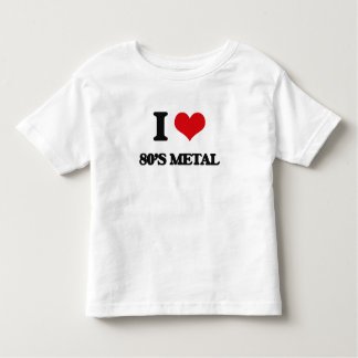 I Love 80'S METAL Tee Shirts