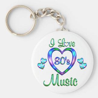 I Love 80s Music Key Chains