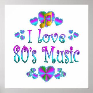 I Love 80s Music Print