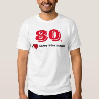I love 80's music tee shirts