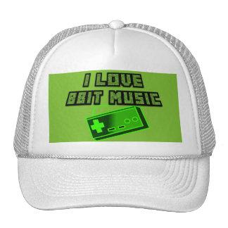 I Love 8bit Music with Controller Digital Art Trucker Hat