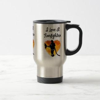 I Love A Firefighter Travel Mug