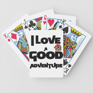 I Love A Good Adventure Bicycle Playing Cards
