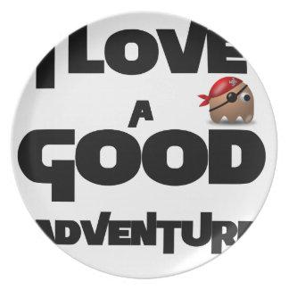 I Love A Good Adventure Plate