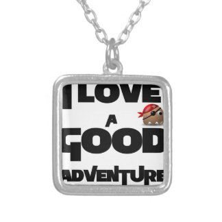I Love A Good Adventure Silver Plated Necklace