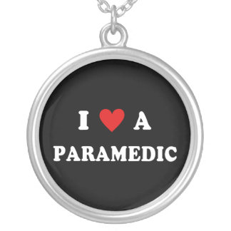 I Love A Paramedic Silver Plated Necklace