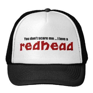 I Love a Redhead Hats