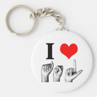 I Love A-S-L Keychain