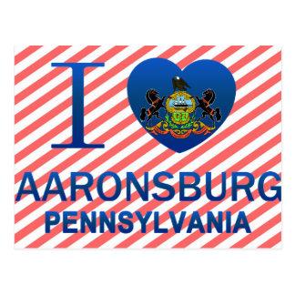 I Love Aaronsburg, PA Postcard