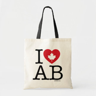 I Love AB | I Love Alberta Canada Custom Tote Bag