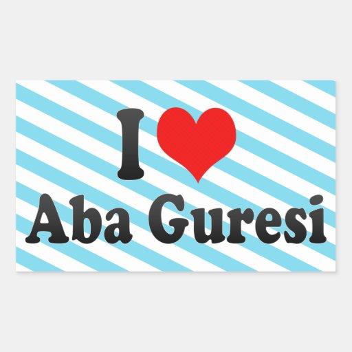 I love Aba Guresi Sticker