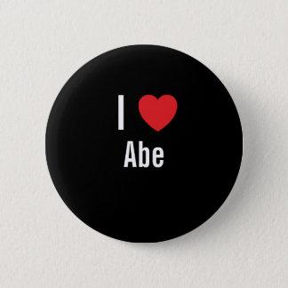 I love Abe 2 Inch Round Button