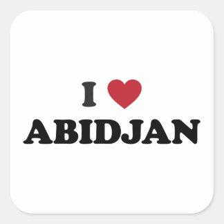 I Love Abidjan Ivory Coast Square Sticker