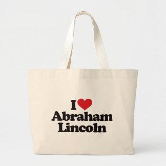 I Love Abraham Lincoln Large Tote Bag