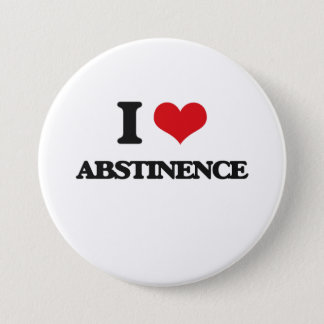 I Love Abstinence 3 Inch Round Button