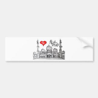 I love Abu Dhabi Bumper Sticker