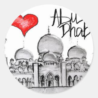 I love Abu Dhabi Round Sticker