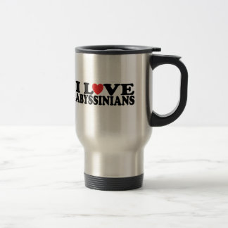 I Love Abyssinians Cat Travel Mug