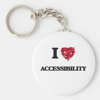 I Love Accessibility Keychain