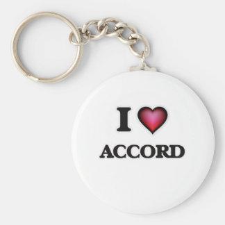 I Love Accord Keychain