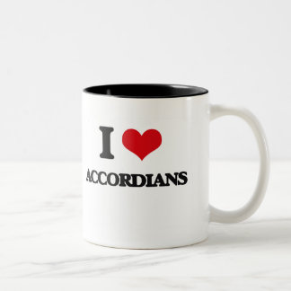 I Love Accordians Two-Tone Coffee Mug