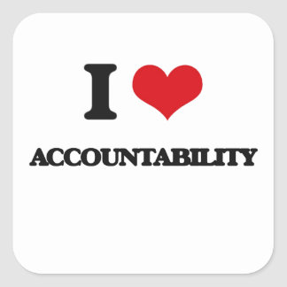I Love Accountability Square Sticker