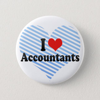 I Love Accountants 2 Inch Round Button