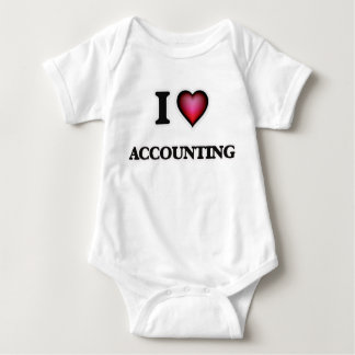 I Love Accounting Baby Bodysuit