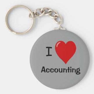 I Love Accounting Keychain