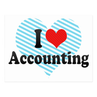 I Love Accounting Postcard