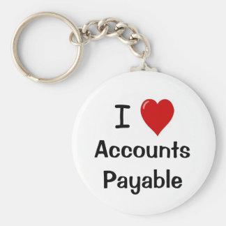 I Love Accounts Payable - I Heart Accounts Payable Keychain