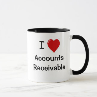 I Love Accounts Receivable AR Quote Mug