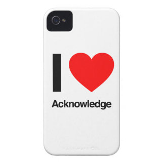 i love acknowledge iPhone 4 covers