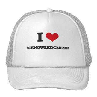 I Love Acknowledgments Mesh Hats