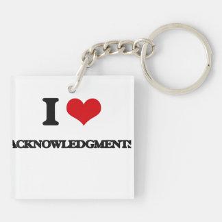 I Love Acknowledgments Acrylic Key Chain