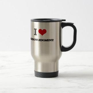 I Love Acknowledgments Mugs