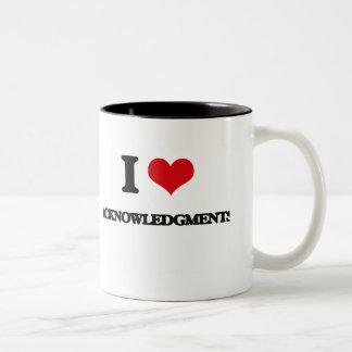 I Love Acknowledgments Coffee Mug