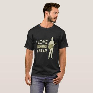 I Love Acoustic Guitar T-Shirt