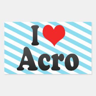 I love Acro Sticker