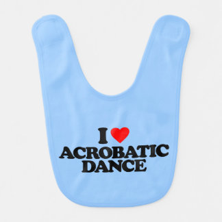 I LOVE ACROBATIC DANCE BIB