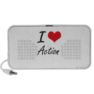 I Love Action Artistic Design Travelling Speaker