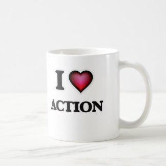 I Love Action Coffee Mug
