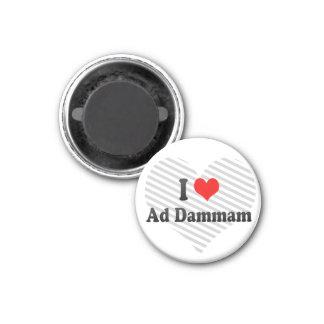 I Love Ad Dammam, Saudi Arabia 1 Inch Round Magnet