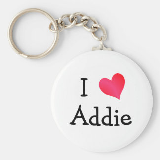 I Love Addie Keychain
