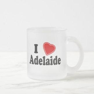 I Love Adelaide 10 Oz Frosted Glass Coffee Mug